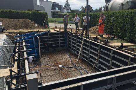 gros oeuvre coffrage piscine beton alsace