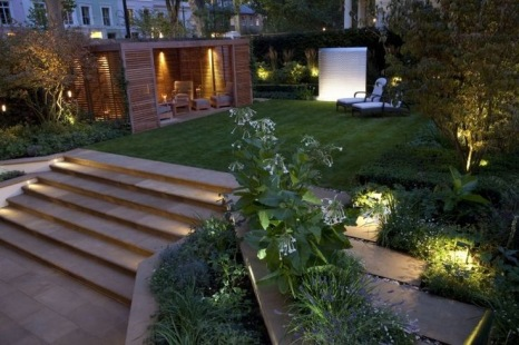 eclairage jardin paysager alsace